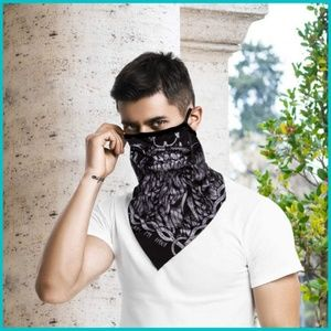 face mask Accessories - Halloween 🎃  Zombie Skull Mask Scarf Ear Loops